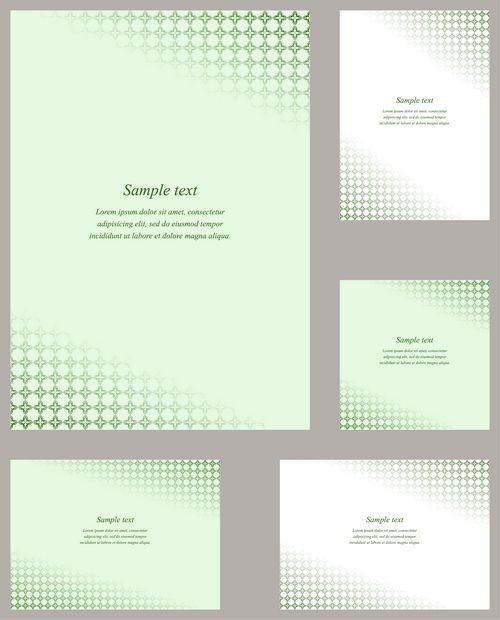 green page corner design template set | design | pinterest, Powerpoint templates