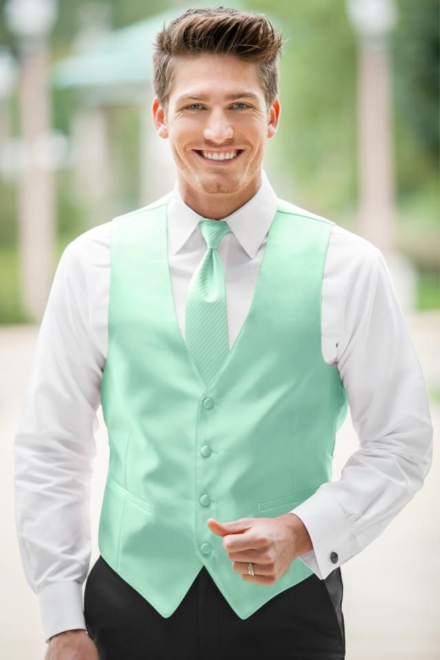 mint and coral wedding groom vest - Google Search | wedding ...