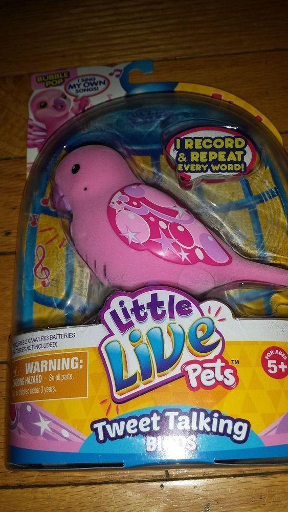 New Little Live Pets Pink Bubble Pop Single Pack Tweet Bird Birdie Interactive Little Live Pets Pink Bubbles Interactive Toys