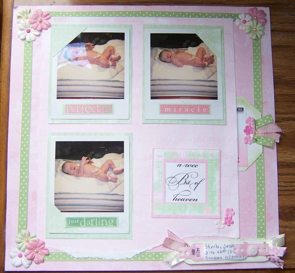 How to scrapbook a baby album - Hannah S Baby Album Scrapbook Com