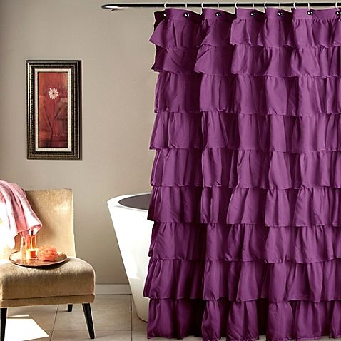 Ruffle Shower Curtain Ruffle Shower Curtains Shabby Chic