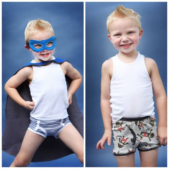 Classic Briefs and Boxer Briefs: Boys Underwear Sewing Pattern ...