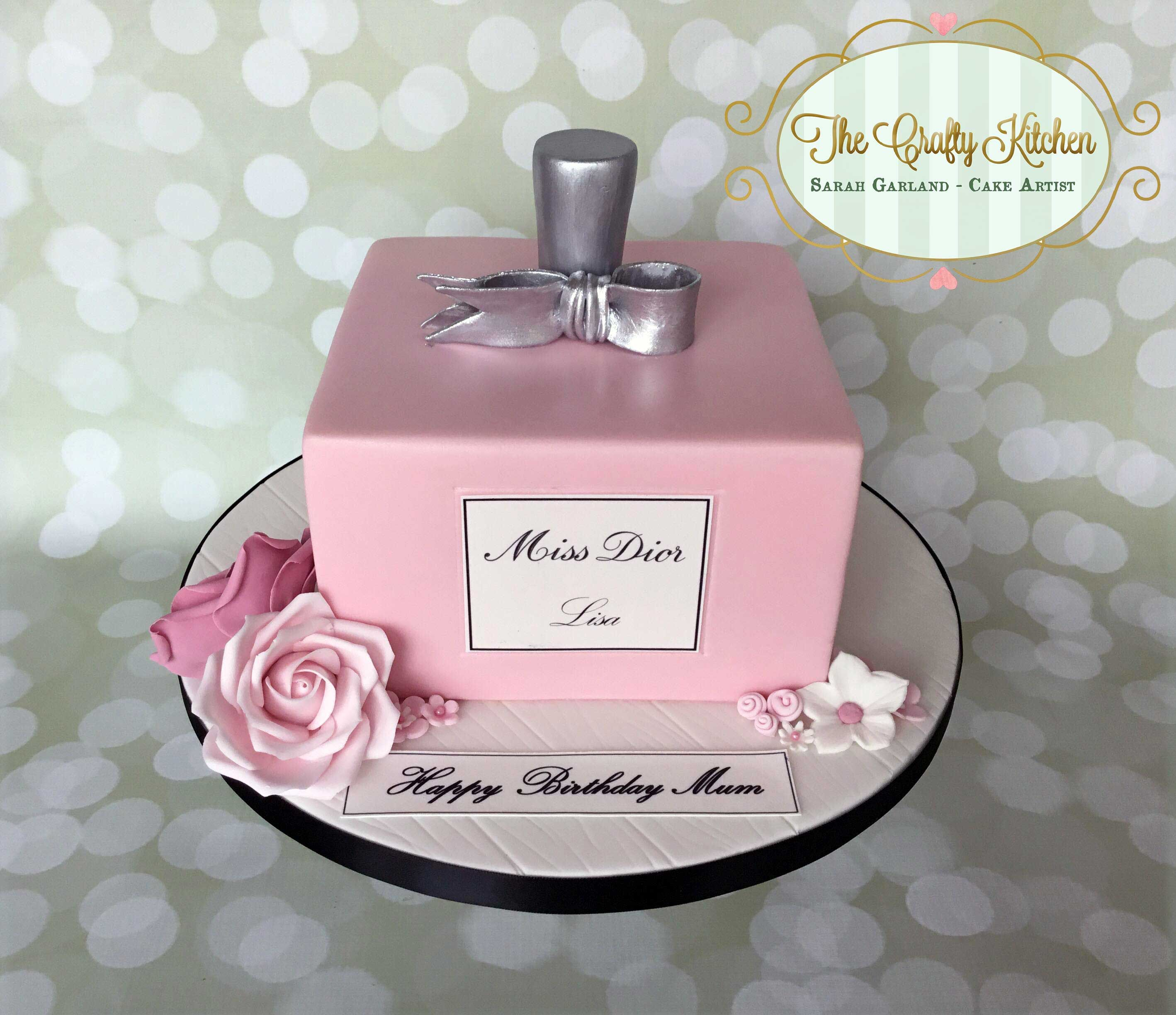 Miss Dior Perfume Bottle Cake Missdior Perfume Ladies Cake
