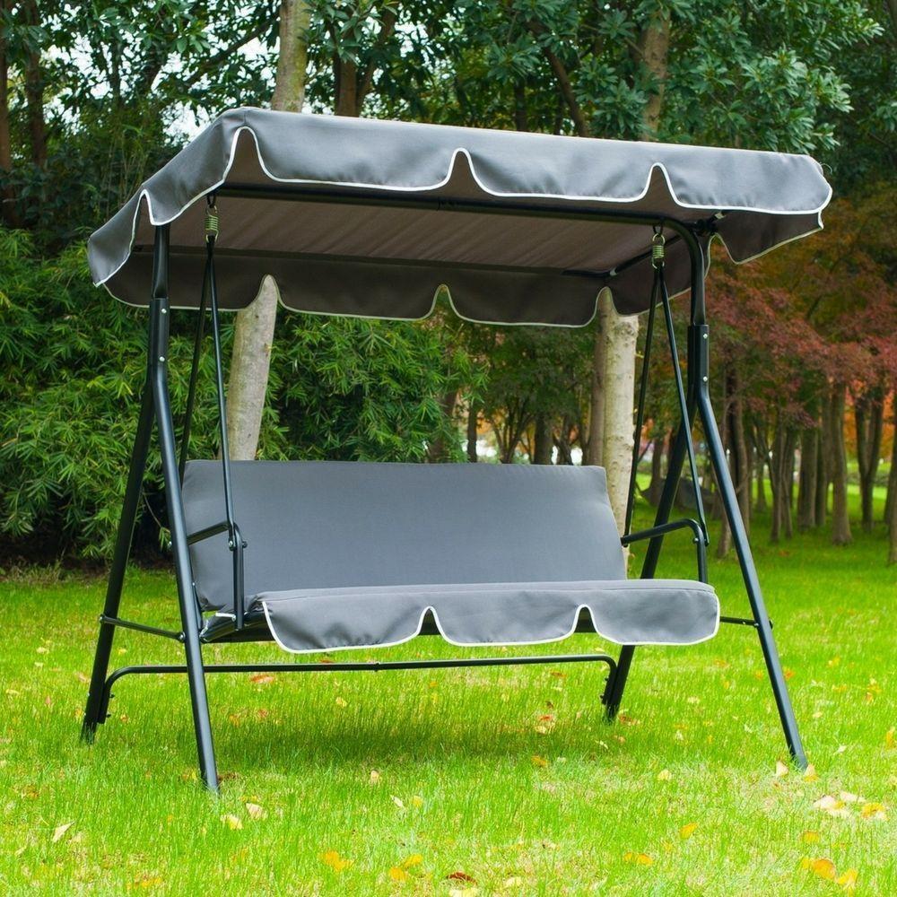 Garden Swing Bench 3 Seater Hammock Outdoor Patio Furniture Seat