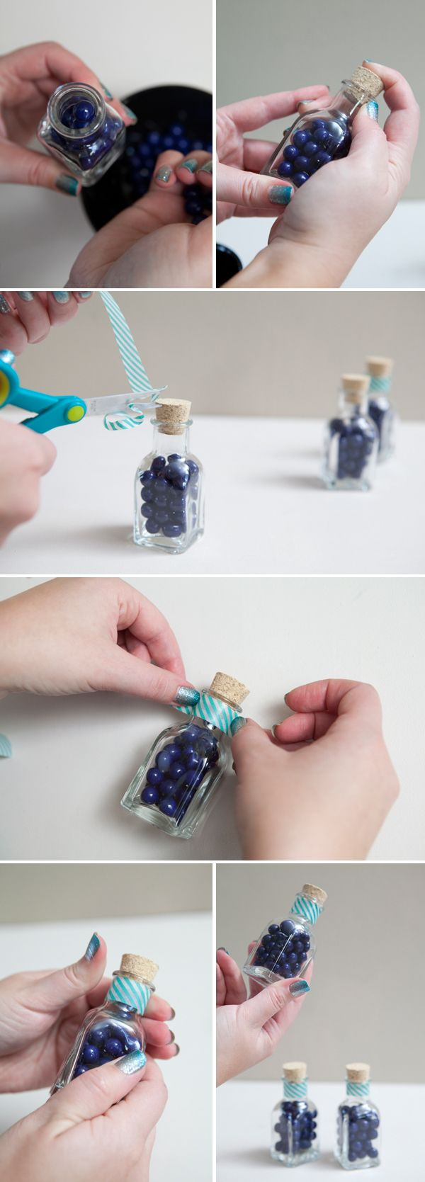 Check out these adorable diy candy wedding favors ~ in mini jars ...