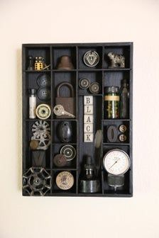 Darker Things Found Object Assemblage Art Shadowbo