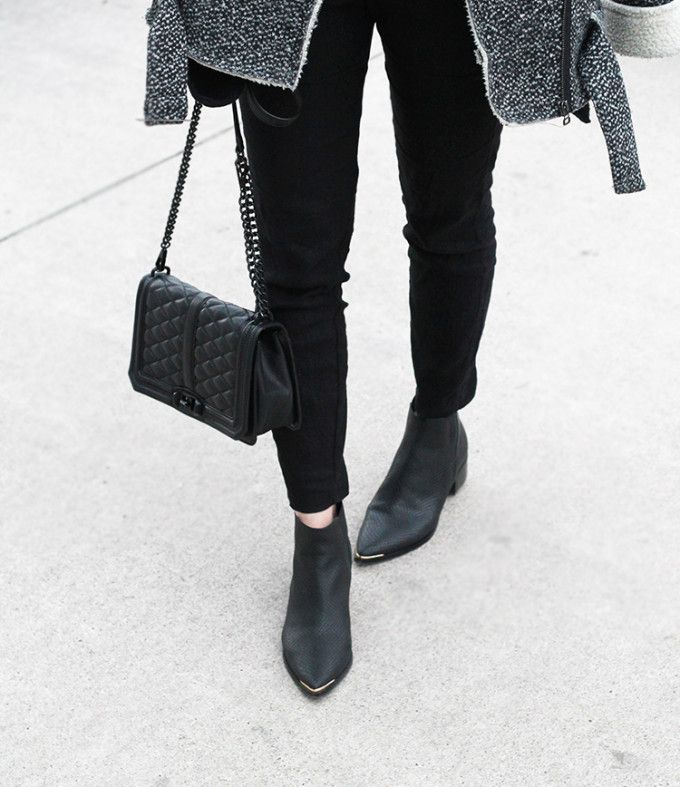 664c7025d3a12 The must-have Marc Fisher Yale Chelsea Booties and a mostly-black winter  look