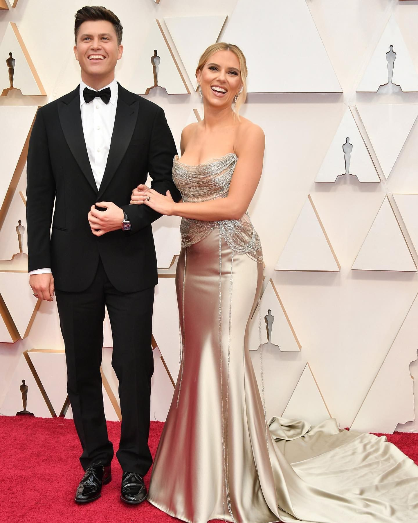 Couple goals! ? It was date night at the #Oscars for Scarlett Johansson and Colin Jost. |?: Steve Granitz  via ✨ @padgram ✨(http://dl.padgra…