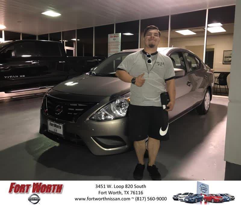 Congratulations Daniel on your #Nissan #Versa Sedan from Jesus De Los Rios at Fort Worth Nissan!  https://deliverymaxx.com/DealerReviews.aspx?DealerCode=WWBX  #FortWorthNissan