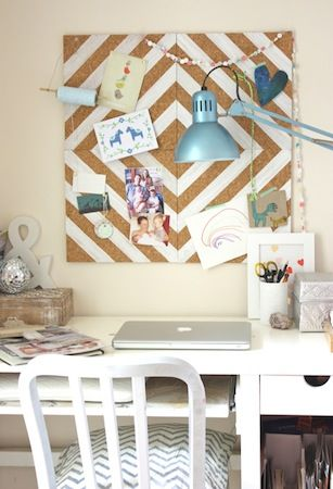 Diy Cork Board Messaging Center This Would Be Cute To Frame In