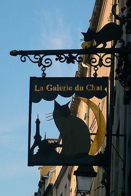 Partage De Carla Van Galen Paris Shop Signs Cat Signs Cat Art