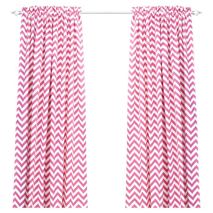 Sandrine Window Panel In Candy Drapes Curtains Curtains Chevron Curtains