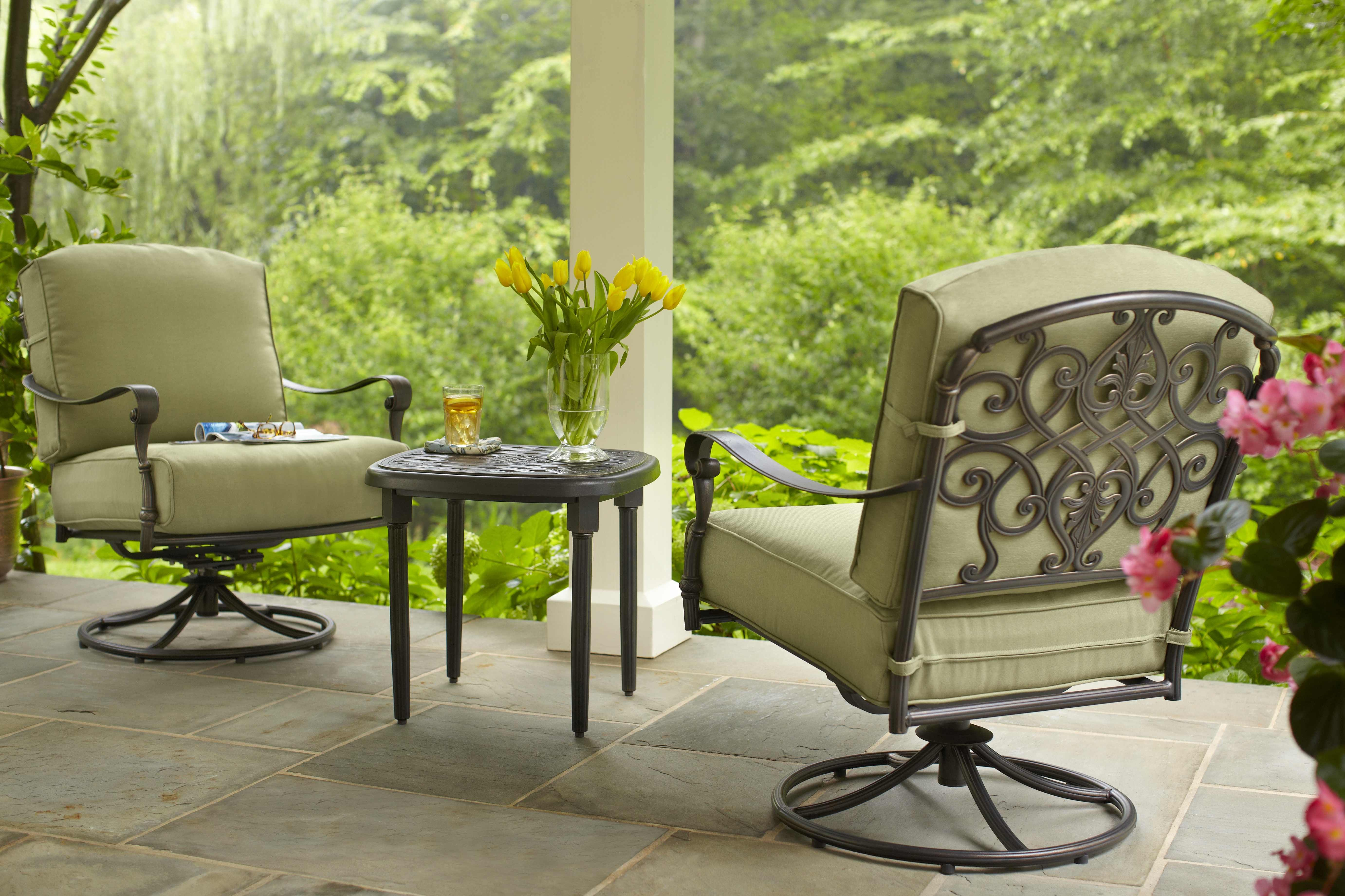 Edington swivel rocking lounge chair available at The Home