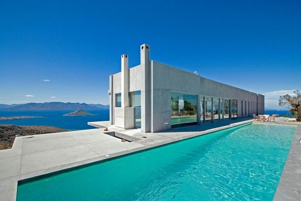 this spectacular contemporary house was designed by greek architect konstantinos kontos located in aigina island greece the modern residence offers - Greek Modern Home Architecture Design