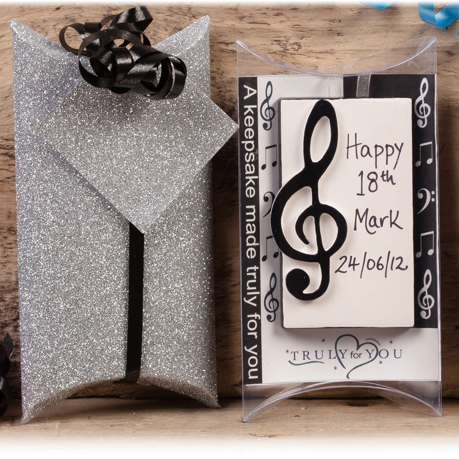 Personalised Music Lover Gift - Treble Clef £9.95