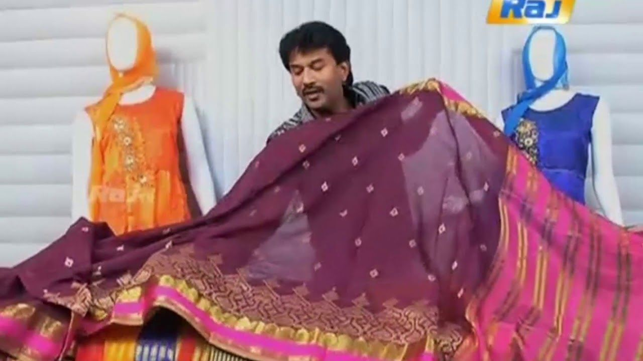 b267af473 RAJ TV Pengal Neram Family Fashion 8-9-2017 September 8th 2017 - Cotton Silk  Sarees with Embroidery - YouTube