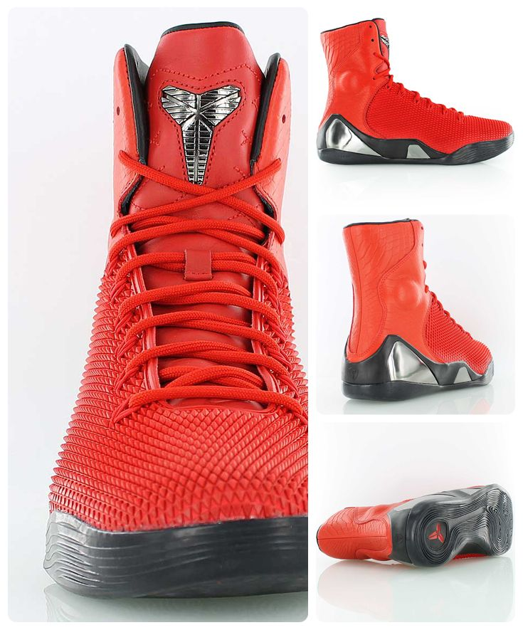 half off 9747a 38b44 Nike Kobe 9 High KRM EXT QS    The Black Mamba meets the Red Viper     Fashionable lifestyle version of Kobe Bryant s 9th Nike signature  basketball shoe.