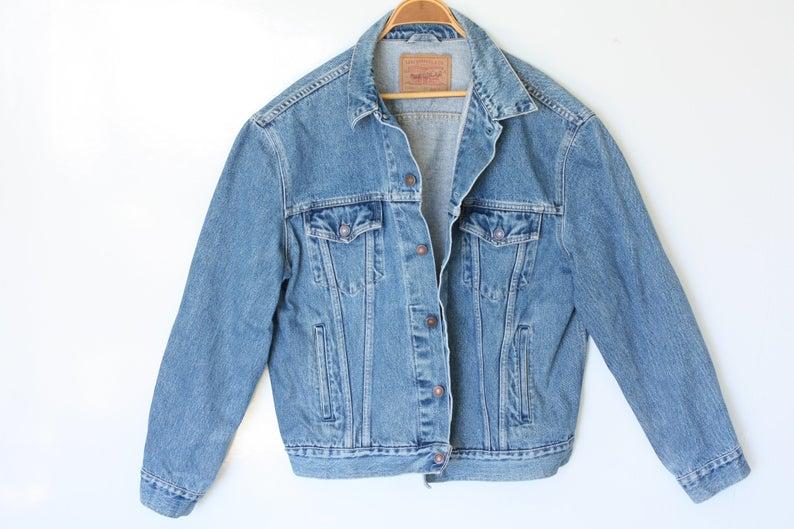 Levis Jean Jacket Xl Unisex Vintage Oversized Denim Jacket