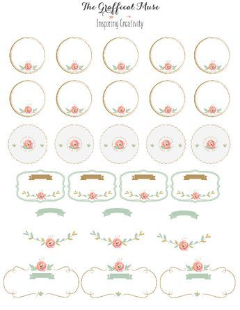 photo about Printable Stickers Labels identified as No cost Printable Crimson Floral Labels and Stickers Faculty