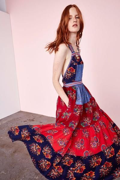 Lune Dress in Patchwork by Ulla Johnson