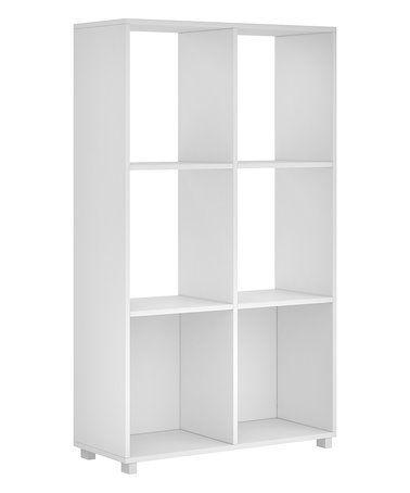 White Natal 2 0 Six Shelf Bookcase Zulilyfinds