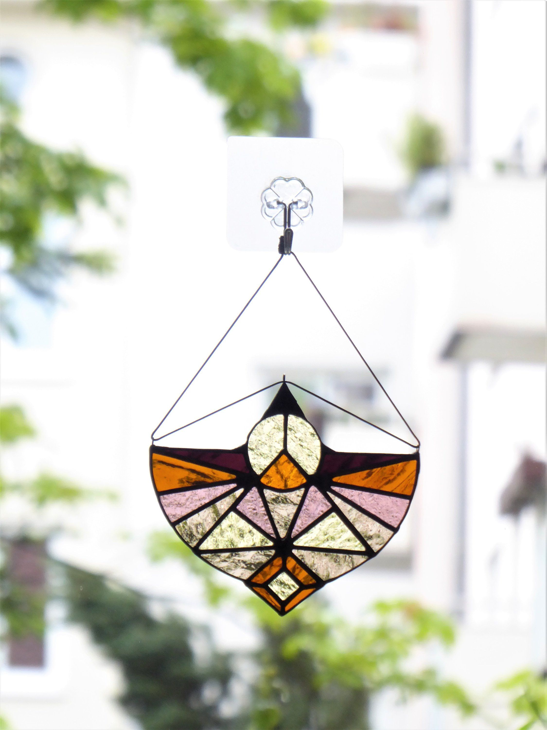 Mountains Stained Glass Window Hangings Suncatcher Wedding Etsy
