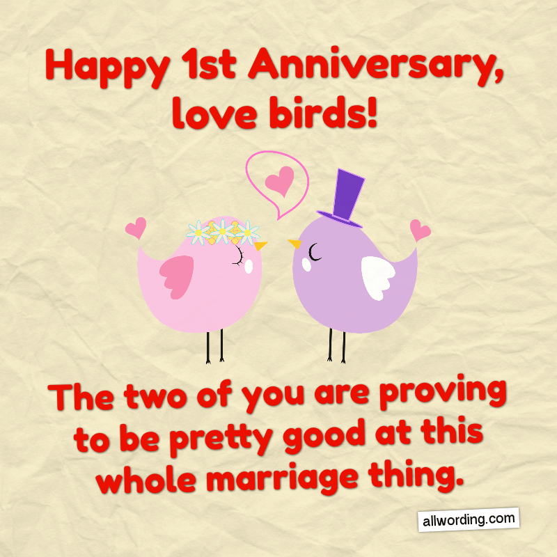 First Anniversary Wishes For A Husband Wife Or Couple Happy Anniversary Messages Happy Anniversary Quotes Marriage Anniversary Quotes