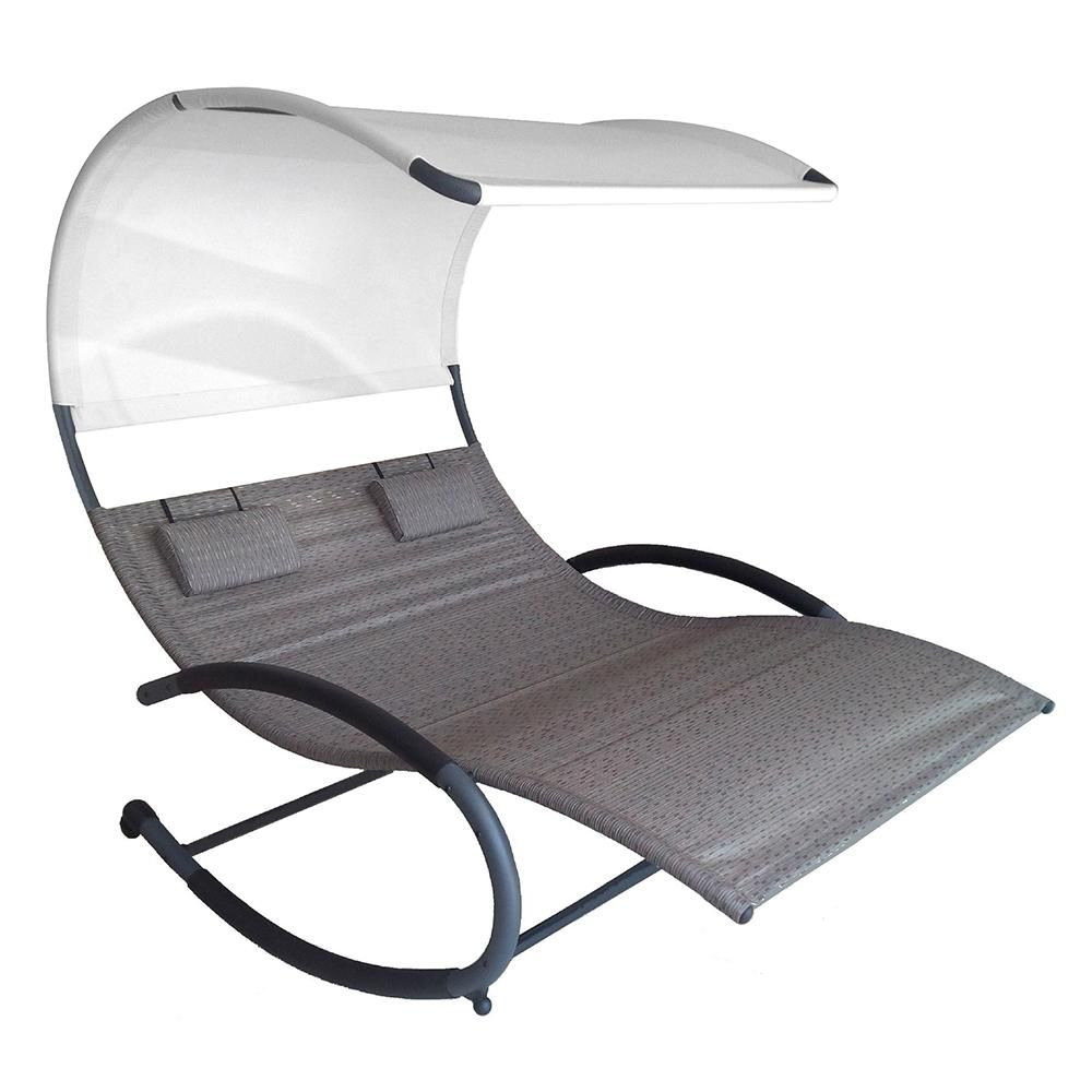 Amazon.com : Vivere Double Chaise Rocker, Sienna : Patio, Lawn & Garden