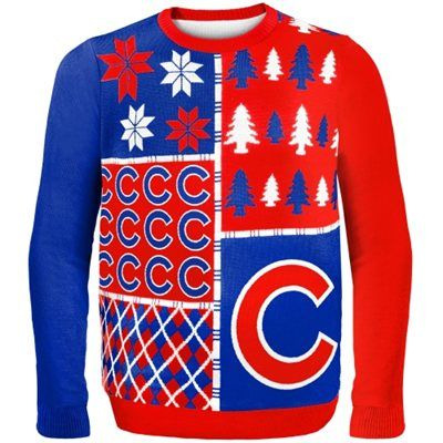 Chicago Cubs Busy Block Ugly Sweater Red Gifts Chicago