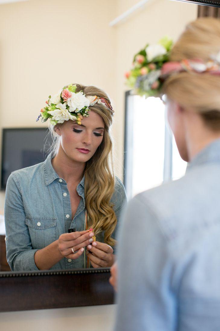 Wedding hairstyle ideas a colorful diy wedding at historic taylor