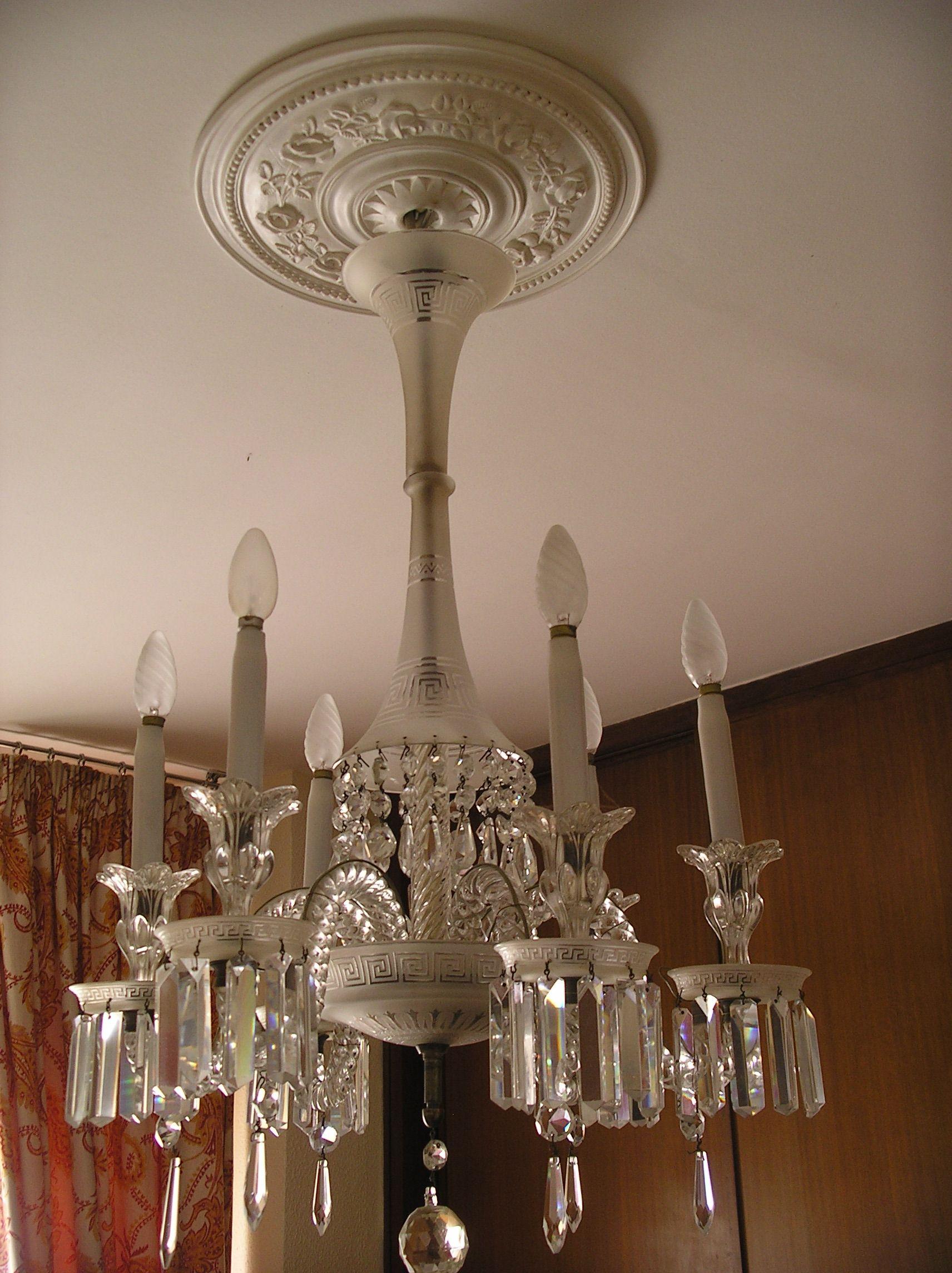 L mpara de cristal de baccarat s xviii antig edades mias pinterest chandeliers glass - Lamparas de cristal antiguas ...