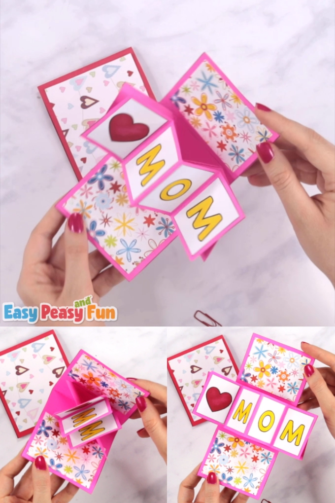 Let's take pop up cards to a new level – we are going to show you how to make a twist and pop Mothers day card!