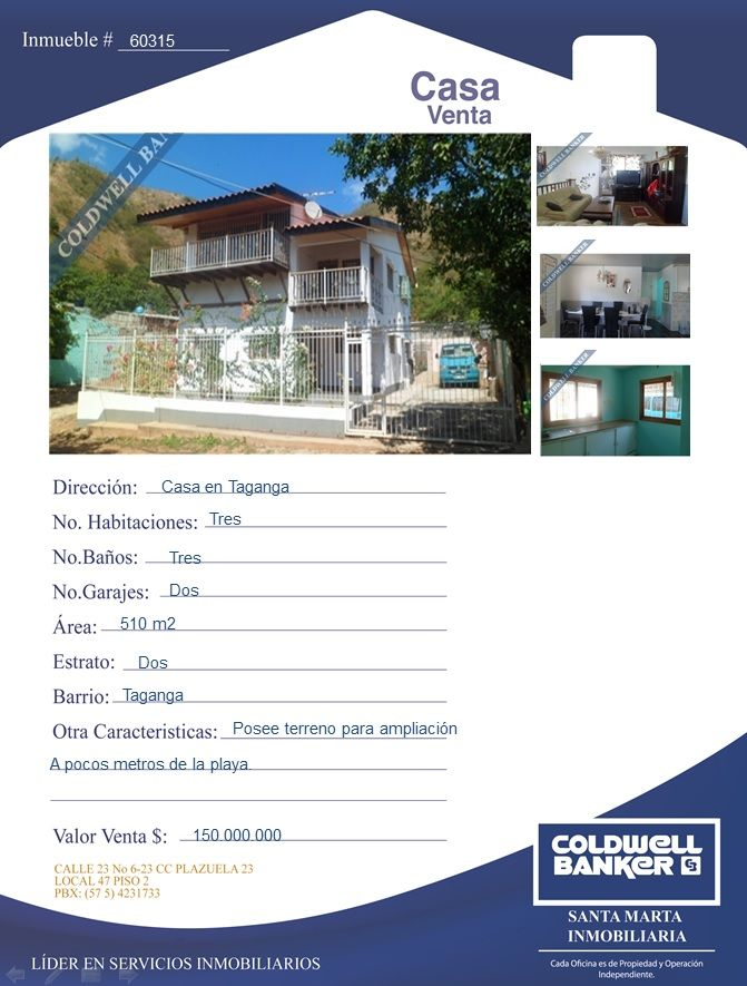 Casa en venta Taganga Santa Marta Colombia Casas en