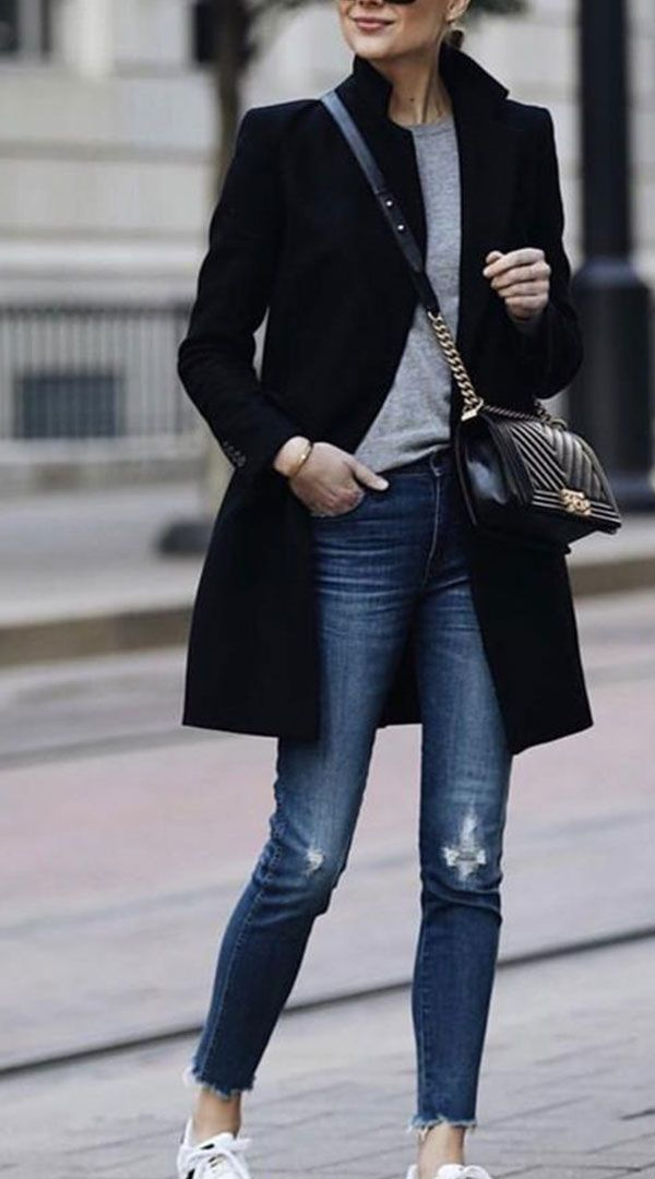 Herbst und Wintermode reine Farbe warmen Mantel #modafemenina