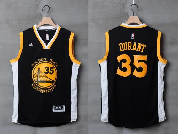 621fd289d 2016-2017 Adidas NBA Golden State Warriors 35 Kevin Durant New Revolution  30 Swingman Road black white Jersey