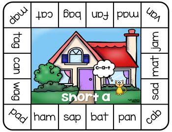 Short Vowel Board Game ~ Let's Read CVC!