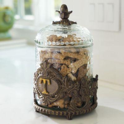 Personalized Decorative Baroque Pet Treat Jar Dog Treat