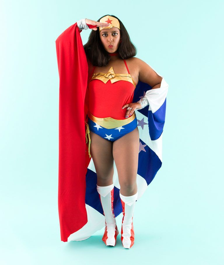 Dress up like Wonder Woman on Halloween with this easy DIY tutorial.