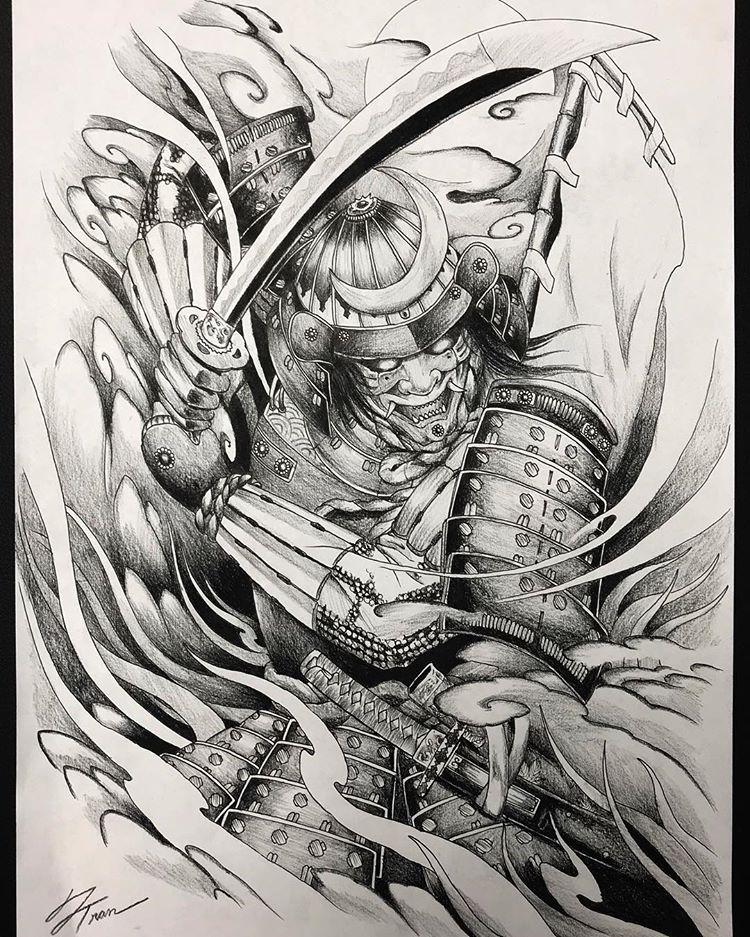 Samurai Tattoo Design Thank You For Viewing Tattoo