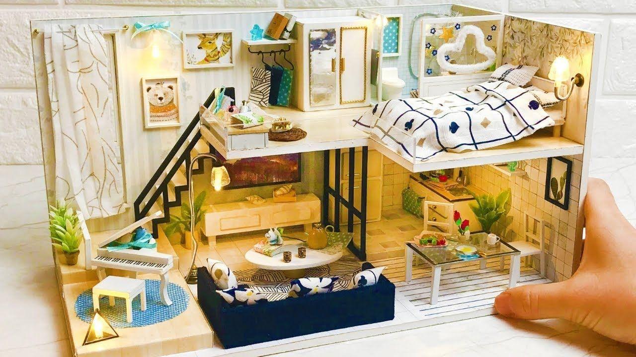 DIY Miniature Dollhouse Kit Modern Loft Style Design