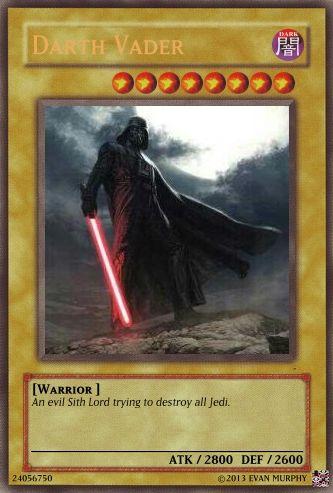 Darth Vader Yu-Gi-Oh Card | Hybrid Creativity | Cards, Monster cards