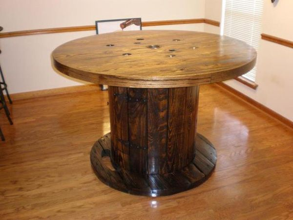 Recycled Cable Spool Table House Ideas Pinterest