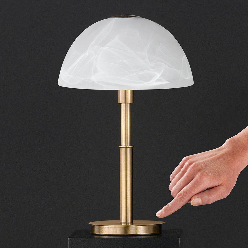 LED Tischleuchte mit Berührungsdimmer in Messing Höhe 35 cm   Tischleuchte, Led tischleuchte ...