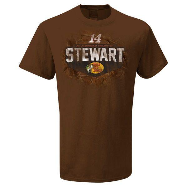The Game Tony Stewart Badge T-Shirt - Brown - $13.99