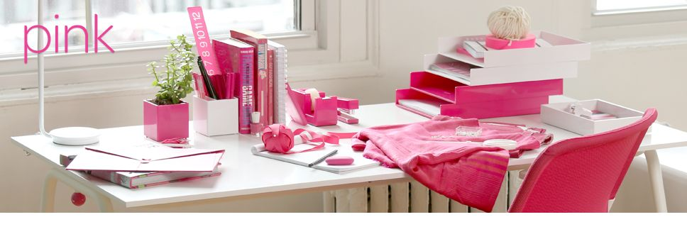 Poppin Pink Desk Supplies Galore