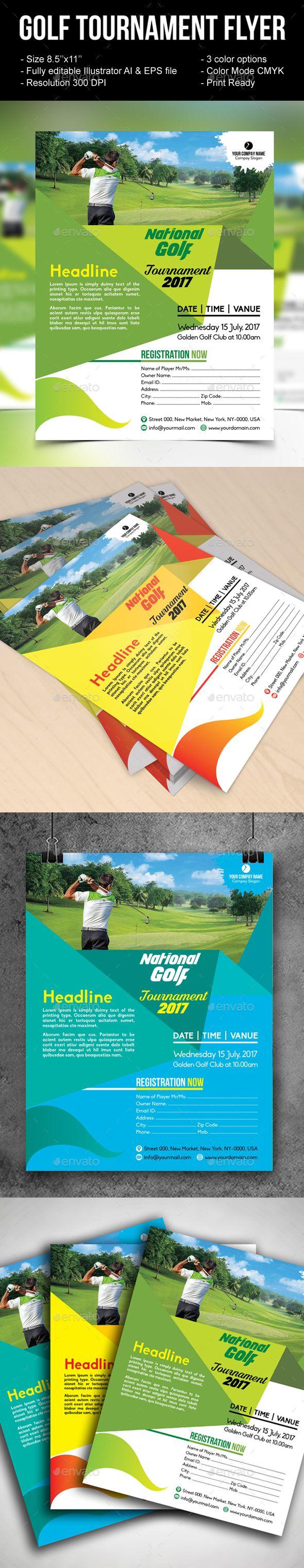 golf tournament flyer eps template cup elegant download