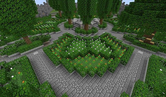 minecraft parks google search - Minecraft Garden Designs