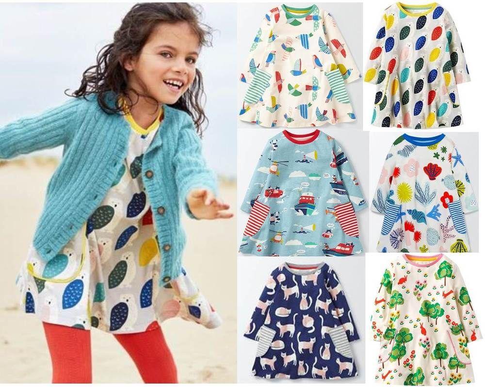9cc576ee584 Mini Boden girls jersey print swing dress tunic top various prints ...