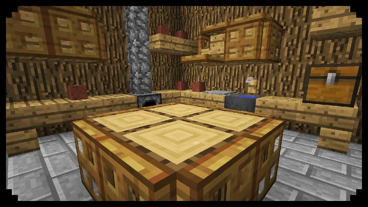 Minecraft How To Make A Medieval Kitchen Minecraft Medieval