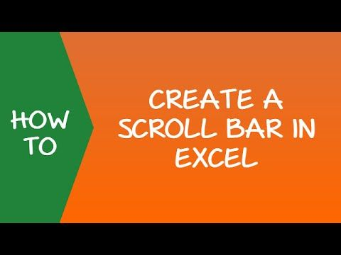 How to Create a Scroll Bar in Excel #ExcelTips #Scrollbar - how to create a spreadsheet